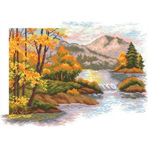 Осенний закат в горах Набор для вышивания Матренин Посад 6017 СК