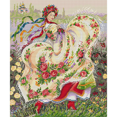 Праздничный платок Набор для вышивания Merejka K-15