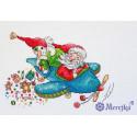 Рождественский полет. Christmas Flight Набор для вышивания Merejka K-113
