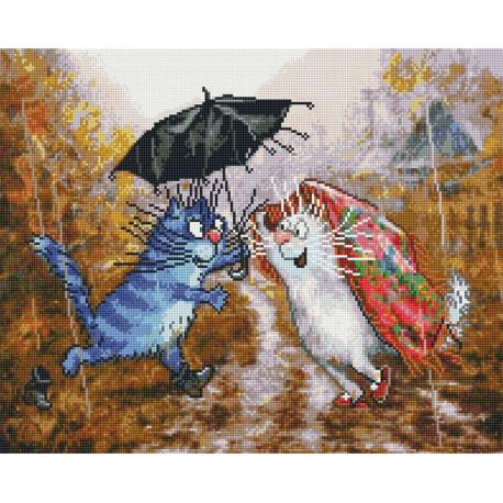 Ты, я и зонтик Алмазная вышивка мозаика APK11111