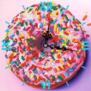 Сладкое искушение Алмазная мозаика часы Color Kit W303017