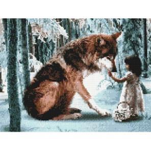 Встреча в лесу Алмазная вышивка (мозаика) Sddi Anya