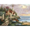 Маяк Раскраска картина по номерам CG2021