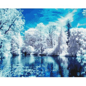Зимний лес Алмазная вышивка (мозаика) Sddi Anya
