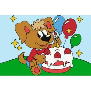 День рождения Раскраска картина по номерам UE026