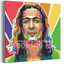 Maneskin / Damiano David арт 100х100 см Раскраска картина по номерам на холсте AAAA-RS096-100x100