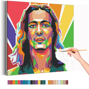 Maneskin / Damiano David арт Раскраска картина по номерам на холсте AAAA-RS096