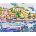 Итальянский причал Алмазная вышивка мозаика Color Kit