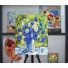 Пример оформления готовой работы Васильковое лето Алмазная вышивка мозаика Color Kit KUK104