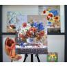 Пример оформления готовой работы Пряное лето Картина по номерам на холсте Color Kit CG2012