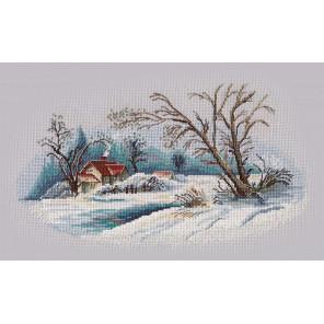 Зимний пейзаж Набор для вышивания Овен 1300