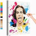 Maneskin / Damiano David арт Раскраска картина по номерам на холсте с неоновами красками AAAA-RS249