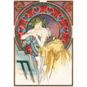 Девушка с мольбертом (по мотивам А.Мухи) Набор для вышивания Риолис 100 058