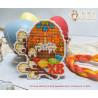 Пример готовой работы Пасхальное яйцо Набор для вышивания Овен 1289