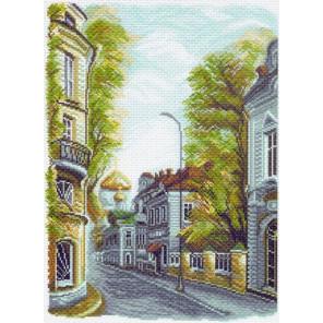 Гагаринский переулок Канва с рисунком для вышивки крестом Матренин посад 1509