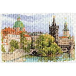 Прага Канва с рисунком для вышивки крестом Матренин посад 1634
