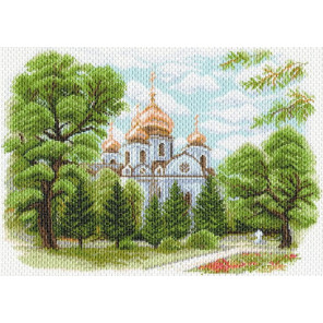 Собор Александра Невского в Краснодаре Канва с рисунком для вышивки крестом Матренин посад 1638