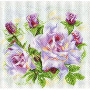 Розы Канва с рисунком для вышивки крестом Матренин посад 1742