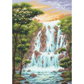 Крутой водопад Алмазная вышивка мозаика Brilliart МС-083