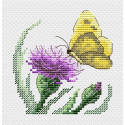 Бабочка и репейник Набор для вышивания крестом МП-Студия М-623