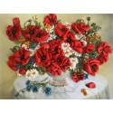Полевой букет Набор для вышивания лентами Многоцветница МЛ(Н)-3018