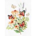 Эхинацея и бабочки Набор для вышивания Многоцветница МКН 53-14