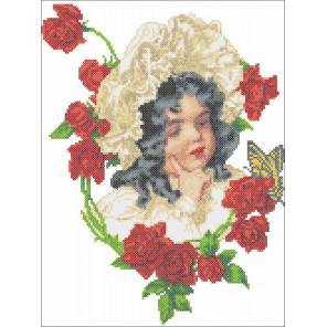 Девочка в розах Набор для вышивания Каролинка КТКН 170