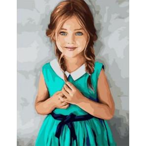 Изумрудное платье Раскраска картина по номерам на холсте PK11409