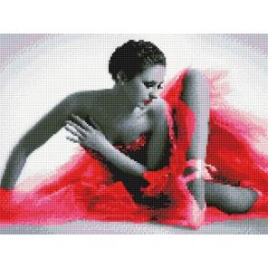 Балерина в красном платье Алмазная вышивка (мозаика) Sddi Anya