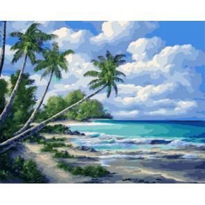 Тропический берег Раскраска картина по номерам на холсте PK11460