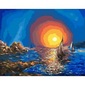 Красочное море Раскраска картина по номерам на холсте PK11470