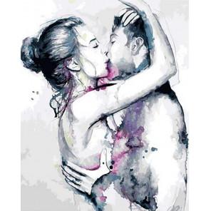 Чувственный поцелуй Раскраска картина по номерам на холсте GX40181