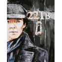 Шерлок Раскраска картина по номерам на холсте PK11508
