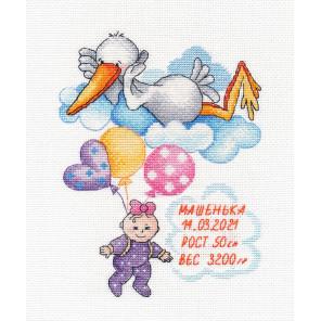 Метрика. Машенька Набор для вышивания Овен 1413
