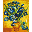 Ирисы Ван Гог Раскраска картина по номерам на холсте Color Kit CG2033