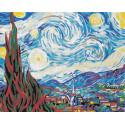 Звездная ночь Ван Гог Раскраска картина по номерам на холсте Color Kit CG2035
