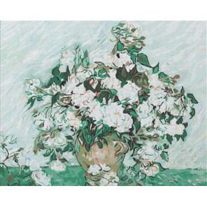 Белые розы Ван Гог Раскраска картина по номерам на холсте Color Kit CG2037