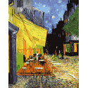 Ночная терраса кафе Ван Гог Раскраска картина по номерам на холсте Color Kit CG2038