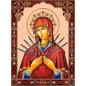 Семистрельная икона Божией Матери Алмазная вышивка мозаика Алмазное хобби AH5526