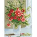 Розовый букет Алмазная вышивка мозаика Color kit DKD1005