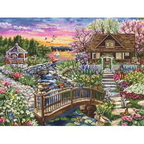 Цветущая весна на озере Набор для вышивания LUCA-S B2379