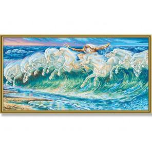 Лошади Нептуна (репродукция Вольтер Крейн) Раскраска по номерам акриловыми красками Schipper (Германия)