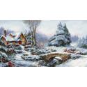 Зимний пейзаж Набор для вышивания LUCA-S BU5002