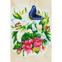 Бабочка в ботаническом саду Алмазная мозаика на подрамнике Белоснежка 583-ST-S