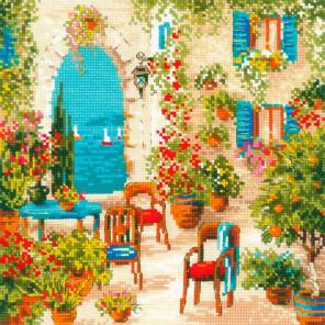 Южный дворик Набор для вышивания Риолис 1863