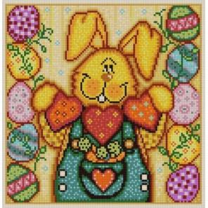 Пасхальный кролик 2 Ткань с рисунком для вышивки бисером Конек 1346