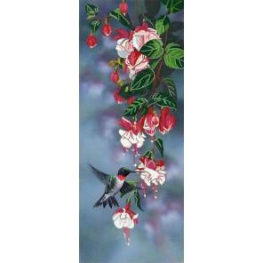 Фуксия Ткань с рисунком для вышивки бисером Конек 8495
