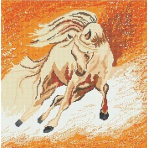 Пегас Ткань с рисунком для вышивки бисером Божья коровка 0158