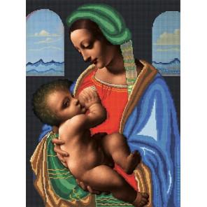 Мадонна Литта Ткань с рисунком для вышивки бисером Божья коровка 0159