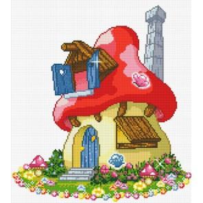Смурфи-дом Алмазная вышивка (мозаика) Sddi Anya